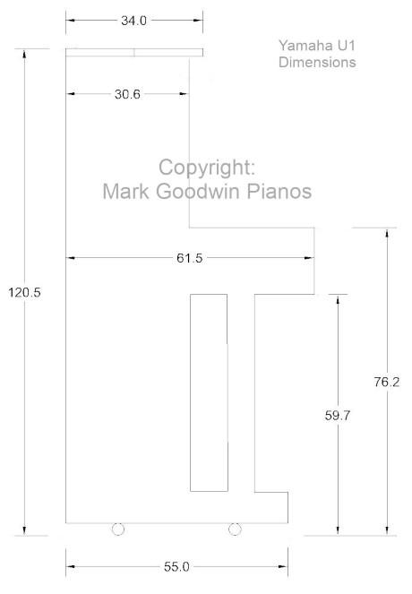 Yamaha U1 Piano Dimensions Mark Goodwin Pianos