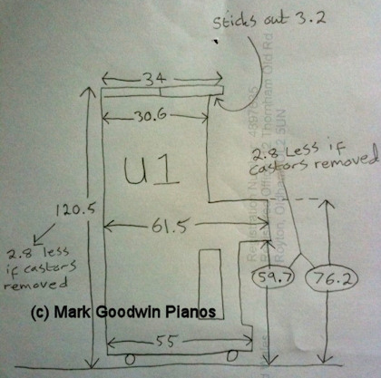 Yamaha U1 Piano Dimensions